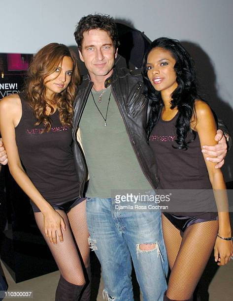 Gerard Butler and models during Victoria's Secret Launches Very Sexy Makeup After Party at Xchange in New York City New York United States