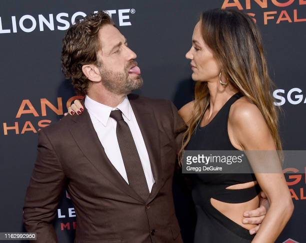 Gerard Butler and Morgan Brown arrive at the LA Premiere Of Lionsgate's Angel Has Fallen at Regency Village Theatre on August 20 2019 in Westwood...