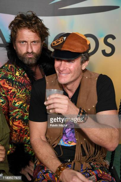 Gerard Butler and Rande Gerber attend the 2019 Casamigos Halloween Party on October 25 2019 at a private residence in Beverly Hills California