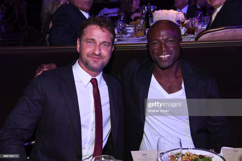 Gerard Butler and Seal at the FIDF Western Region Gala held at The Beverly Hilton Hotel on November 2, 2017 in Beverly Hills, California.