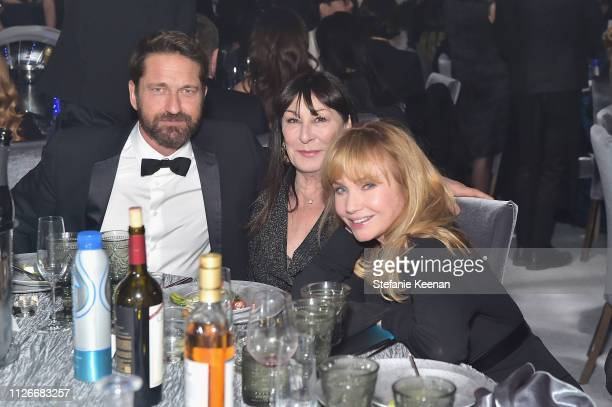 Gerard Butler Anjelica Huston and Rebecca De Mornay attend the UCLA IoES honors Barbra Streisand and Gisele Bundchen at the 2019 Hollywood for...