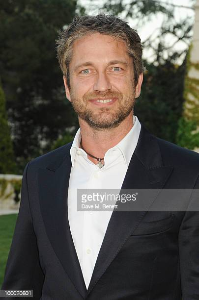 Gerard Butler arrives at amfAR's Cinema Against AIDS 2010 benefit gala at the Hotel du Cap on May 20 2010 in Antibes France