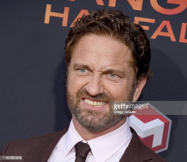 Gerard Butler arrives at the LA Premiere Of Lionsgate's Angel Has Fallen at Regency Village Theatre on August 20 2019 in Westwood California