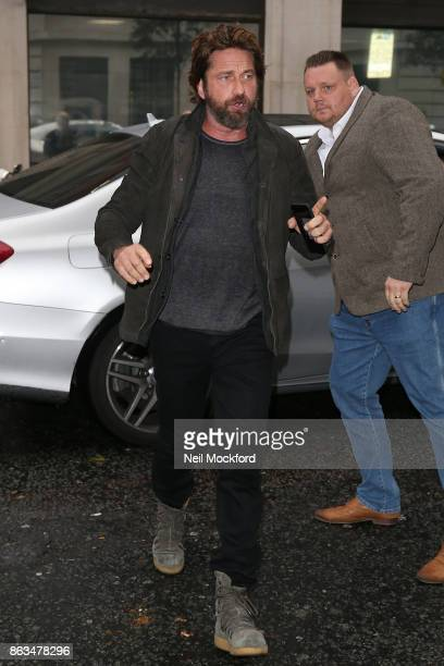 Gerard Butler at BBC Radio 2 on October 20 2017 in London England