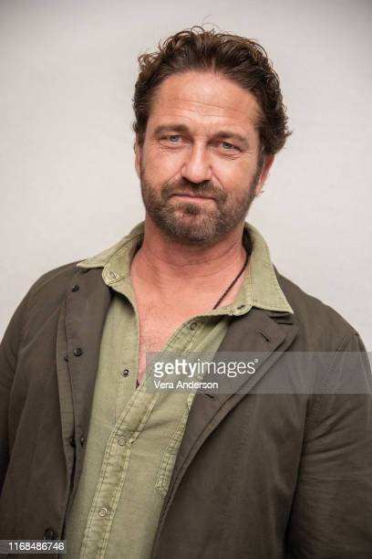 Gerard Butler at the Angel Has Fallen Press Conference at the Four Seasons Hotel on August 16 2019 in Beverly Hills California