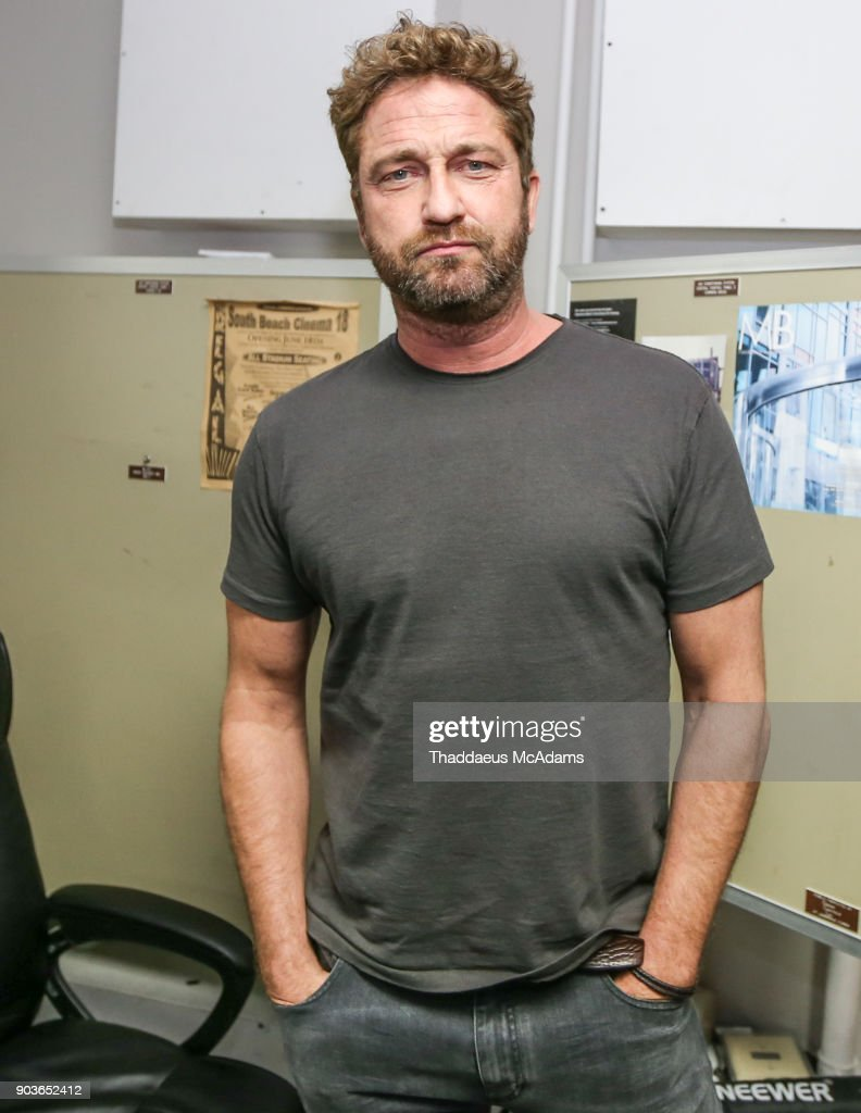 Gerard Butler at The Den of Thieves special screening at Regal South Beach on January 10, 2018 in Miami, Florida.