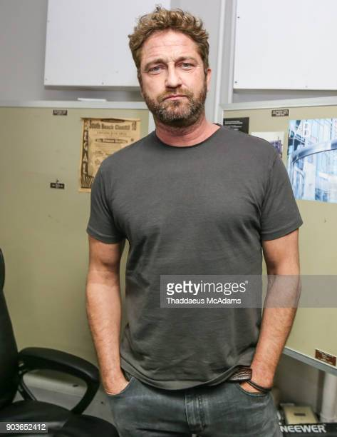 Gerard Butler at The Den of Thieves special screening at Regal South Beach on January 10 2018 in Miami Florida