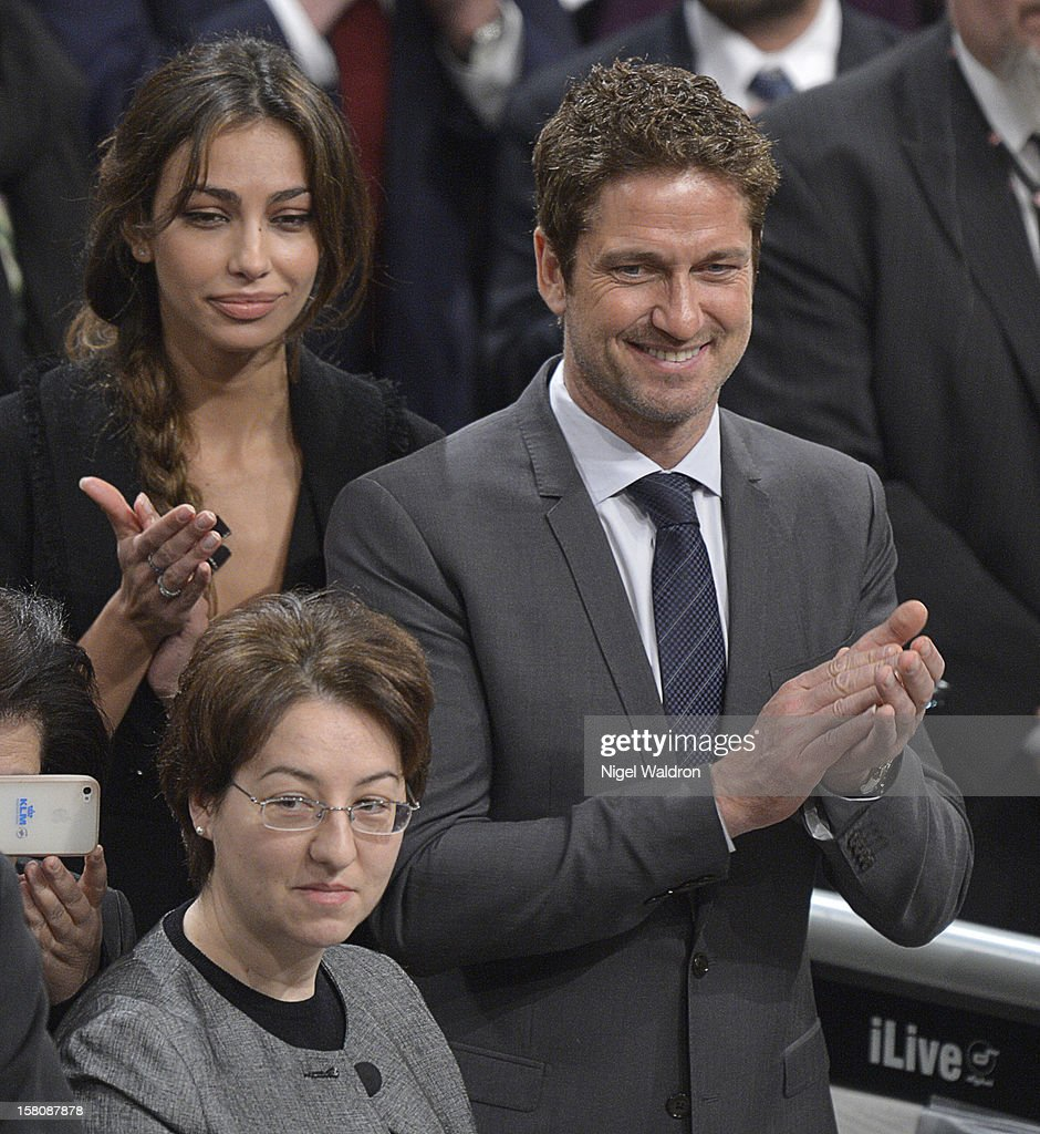 Gerard Butler at The Nobel Peace Prize Ceremony at Oslo City Hall on December 10, 2012 in Oslo, Norway.