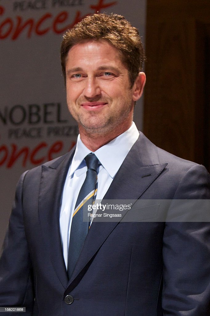 Gerard Butler attends a press conference ahead of the Nobel Peace Prize Concert at Radisson Blu Plaza Hotel on December 11, 2012 in Oslo, Norway.