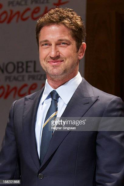 Gerard Butler attends a press conference ahead of the Nobel Peace Prize Concert at Radisson Blu Plaza Hotel on December 11 2012 in Oslo Norway