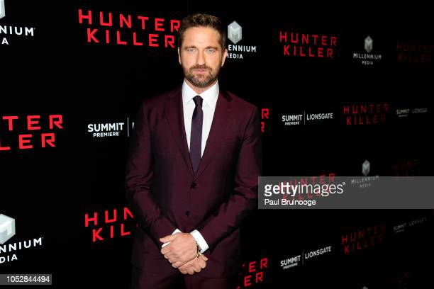 Gerard Butler attends Lionsgate With The Cinema Society Host The World Premiere Of Hunter Killer at Intrepid SeaAirSpace Museum NYC on October 22...