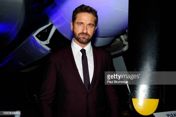Gerard Butler attends Lionsgate With The Cinema Society Host The After Party For The World Premiere Of 'Hunter Killer' at Intrepid SeaAirSpace Museum...