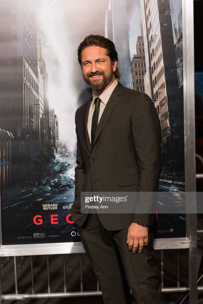 Gerard Butler attends Premiere Of Warner Bros. Pictures' 'Geostorm' - Arrivals at TCL Chinese Theatre on October 16, 2017 in Hollywood, California.