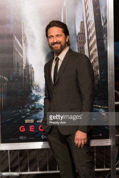 Gerard Butler attends Premiere Of Warner Bros Pictures' Geostorm Arrivals at TCL Chinese Theatre on October 16 2017 in Hollywood California