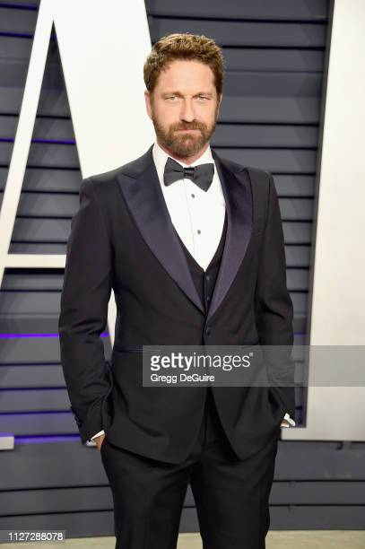 Gerard Butler attends the 2019 Vanity Fair Oscar Party hosted by Radhika Jones at Wallis Annenberg Center for the Performing Arts on February 24 2019...