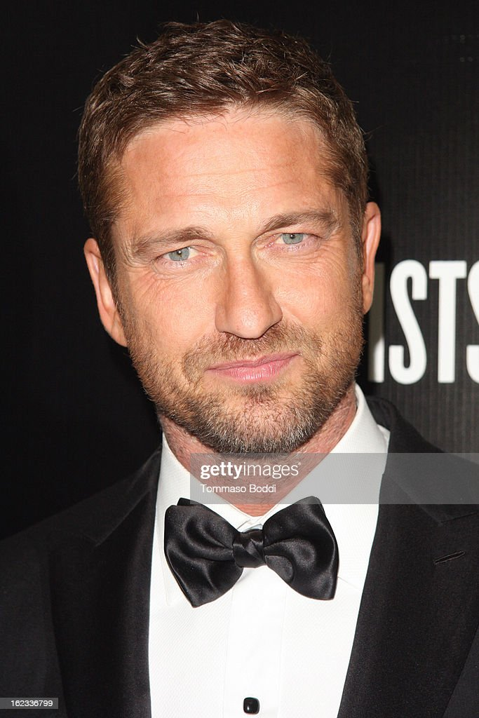 Gerard Butler attends the 6th annual Hollywood Domino Gala & Tournament held at teh Sunset Tower on February 21, 2013 in West Hollywood, California.