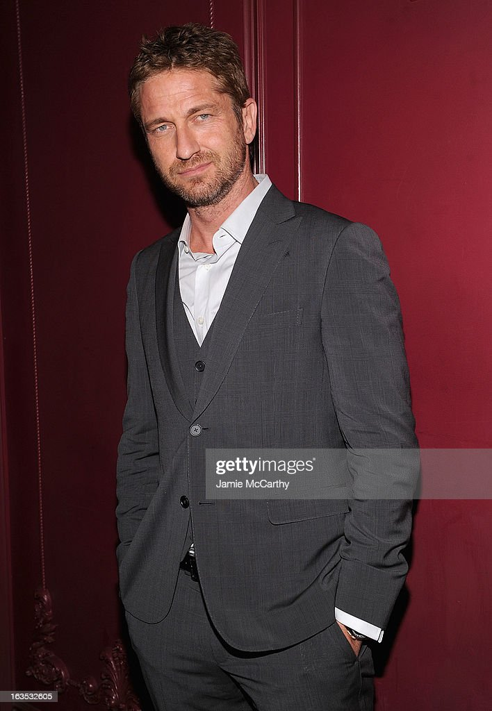 Gerard Butler attends the after party for The Cinema Society with Roger Dubuis and Grey Goose screening of FilmDistrict's 'Olympus Has Fallen' at The Darby on March 11, 2013 in New York City.