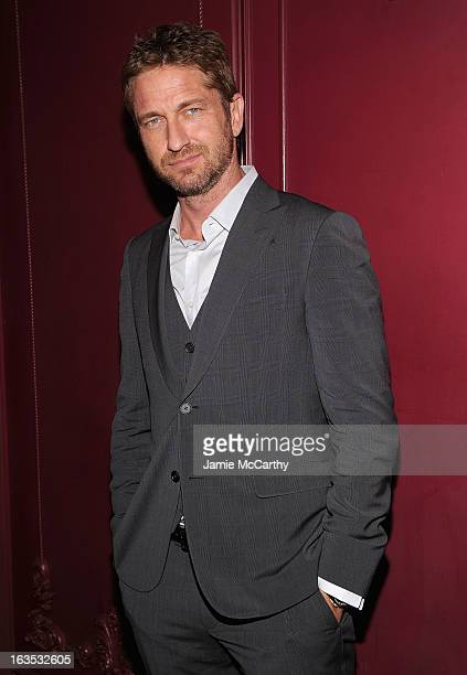Gerard Butler attends the after party for The Cinema Society with Roger Dubuis and Grey Goose screening of FilmDistrict's 'Olympus Has Fallen' at The...