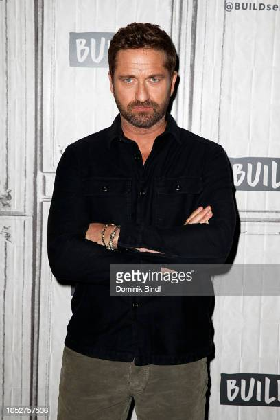 Gerard Butler attends the Build Series to discuss 'Hunter Killer' at Build Studio on October 22 2018 in New York City