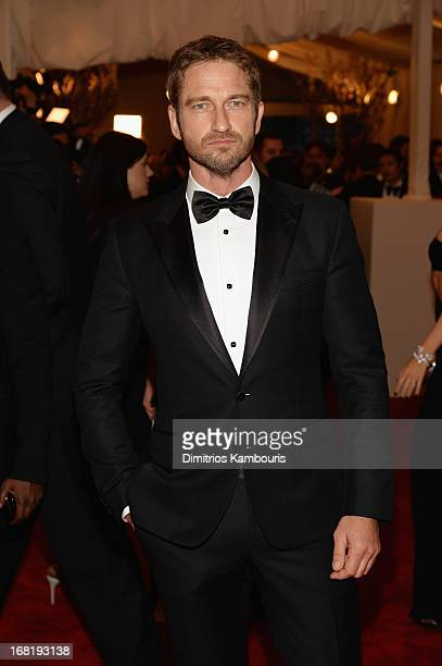 Gerard Butler attends the Costume Institute Gala for the 'PUNK Chaos to Couture' exhibition at the Metropolitan Museum of Art on May 6 2013 in New...