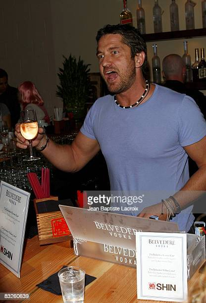 Gerard Butler attends the Grand Opening of 'Shin' on October 13 2008 in Los Angeles California