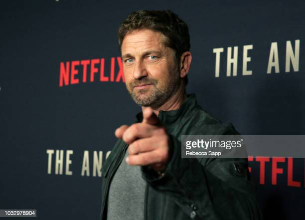Gerard Butler attends the Los Angeles Special Screening of Netflix's 'The Angel' at TCL Chinese Theatre on September 13 2018 in Hollywood California