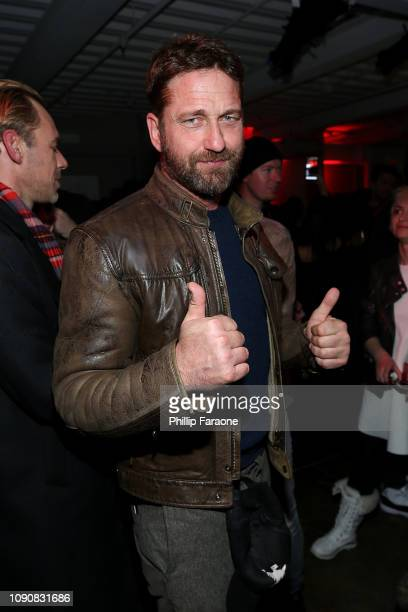Gerard Butler attends the new SHOWTIME Docuseries WuTang Clan Of Mics Men celebration at Stella's Film Lounge during the 2019 Sundance Film Festival...