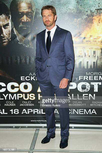 Gerard Butler attends the 'Olympus Has Fallen' premiere at Cinema Adriano on April 5 2013 in Rome Italy