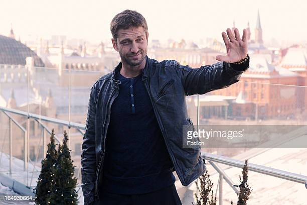 Gerard Butler attends the photo call of FilmDistrict's 'Olympus Has Fallen' at the Ritz Carlton Hotel on March 29 2013 in Moscow Russia