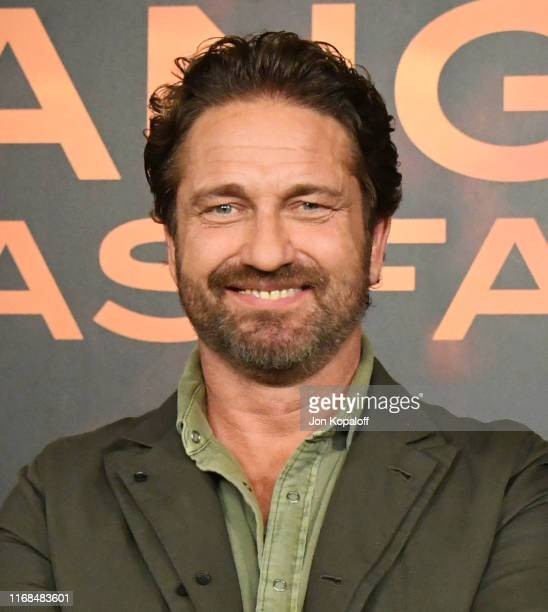 """Gerard Butler attends the Photocall For Lions Gate's """"Angel Has Fallen"""" at the Beverly Wilshire Four Seasons Hotel on August 16, 2019 in Beverly..."""