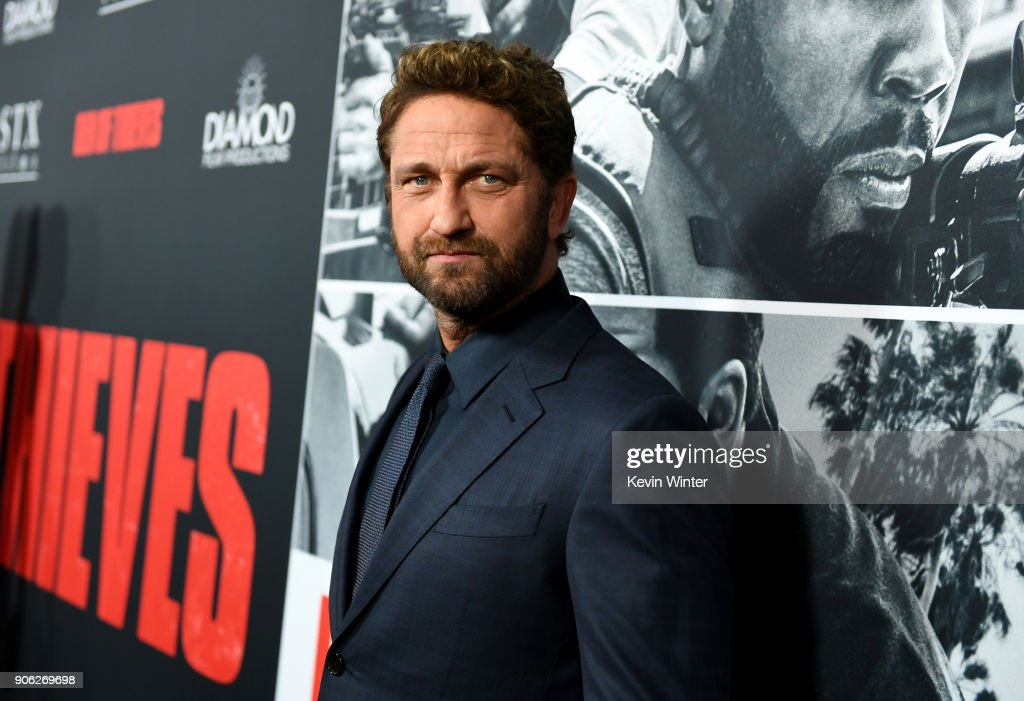 Gerard Butler attends the premiere of STX Films' 'Den of Thieves' at Regal LA Live Stadium 14 on January 17, 2018 in Los Angeles, California.