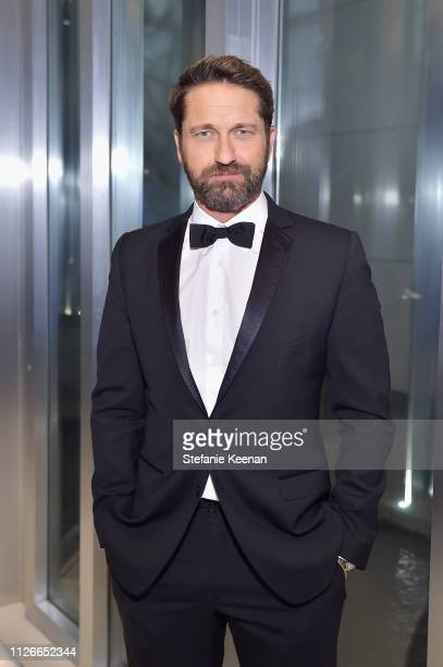 Gerard Butler attends the UCLA IoES honors Barbra Streisand and Gisele Bundchen at the 2019 Hollywood for Science Gala on February 21, 2019 in...