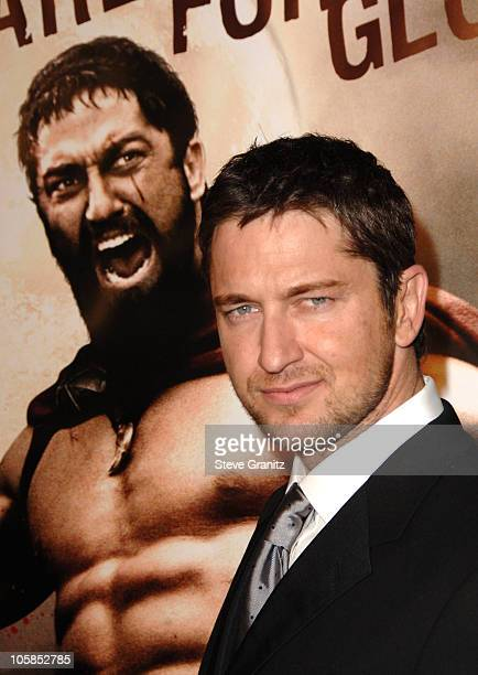 Gerard Butler during '300' Los Angeles Premiere Arrivals at Grauman's Chinese in Hollywood California United States