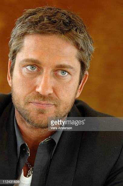 Gerard Butler during '300' Press Conference with Gerard Butler Rodrigo Santoro Frank Miller and Zack Snyder at Beverly Hilton Hotel in Beverly Hills...