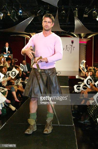 Gerard Butler during Dressed to Kilt A Scottish Evening of Fashion and Fun Runway at Copacabana in New York City New York United States