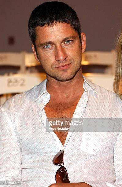 Gerard Butler during Mercedes Benz Fall 2005 LA Fashion Week at Smash Box Studios Harveys Front Row and Backstage at Smashbox Studios in Culver City...