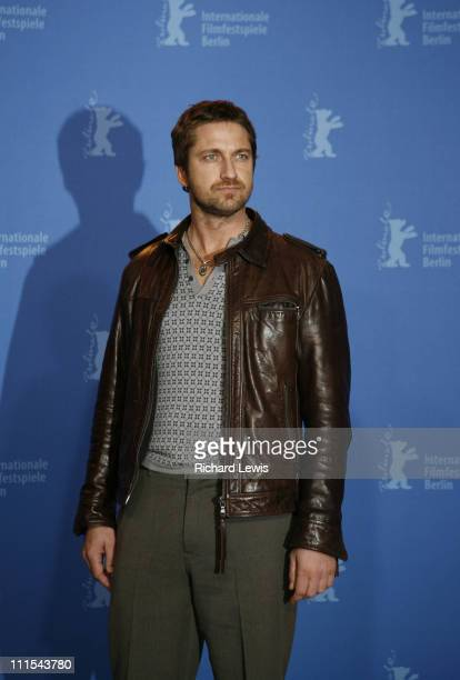 Gerard Butler during The 57th Annual Berlinale International Film Festival '300' Photocall and Press Conference in Berlin Germany