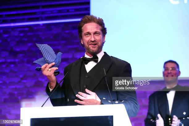 Gerard Butler during the Cinema For Peace Gala at Westhafen Event & Convention Center on February 23, 2019 in Berlin, Germany.