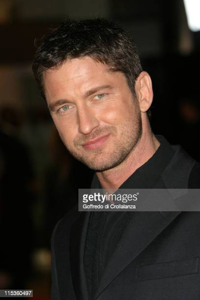 Gerard Butler during The Phantom of the Opera London Premiere Arrivals at Leicester Square in London England Great Britain