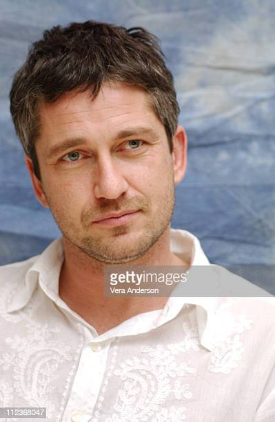 Gerard Butler during 'The Phantom of the Opera' Press Conference with Emmy Rossum Gerard Butler Joel Schumacher Minnie Driver and Patrick Wilson at...