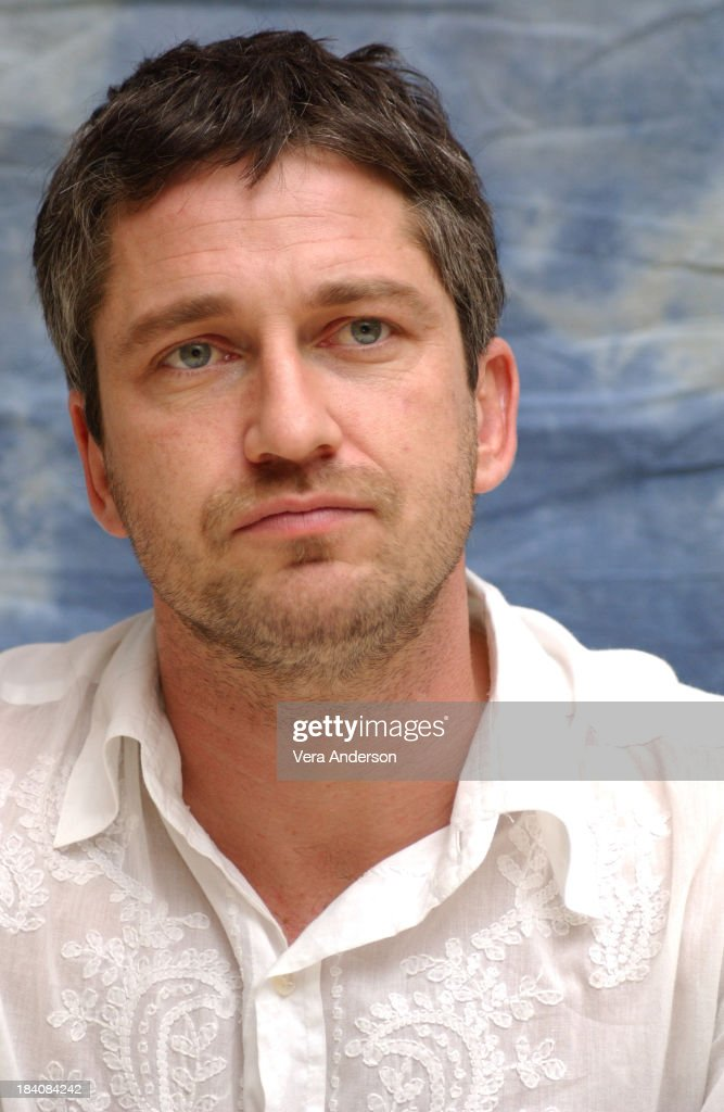 Gerard Butler during The Phantom of the Opera Press Conference with Emmy Rossum, Gerard Butler, Joel Schumacher, Minnie Driver and Patrick Wilson at Four Seasons Hotel in Beverly Hills, California, United States.