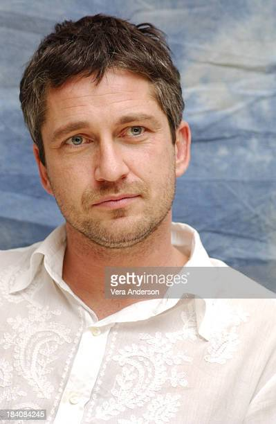 Gerard Butler during The Phantom of the Opera Press Conference with Emmy Rossum Gerard Butler Joel Schumacher Minnie Driver and Patrick Wilson at...