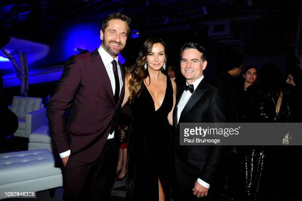 Gerard Butler Ingrid Vandebosch and Jeff Gordon attend Lionsgate With The Cinema Society Host The After Party For The World Premiere Of 'Hunter...