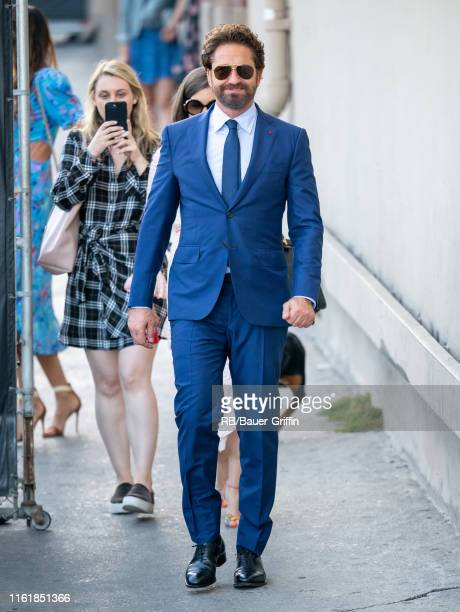 Gerard Butler is seen at 'Jimmy Kimmel Live' on August 15, 2019 in Los Angeles, California.