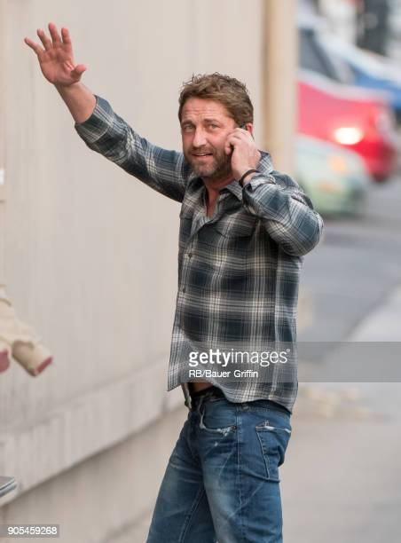 Gerard Butler is seen at 'Jimmy Kimmel Live' on January 15 2018 in Los Angeles California