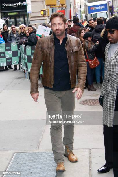 Gerard Butler is seen on October 22 2018 in New York City