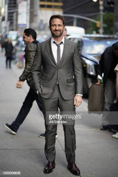 Gerard Butler is seen on October 24 2018 in New York City
