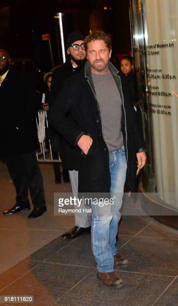 Gerard Butler is seen walking in midtown on February 13 2018 in New York City
