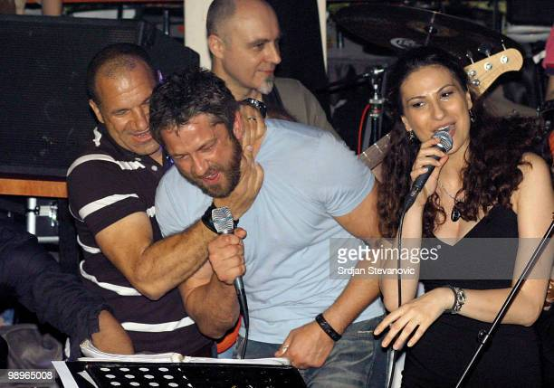 Gerard Butler is sighted at a party at the Cinema nightclub on May 10 2010 in Belgrade Serbia