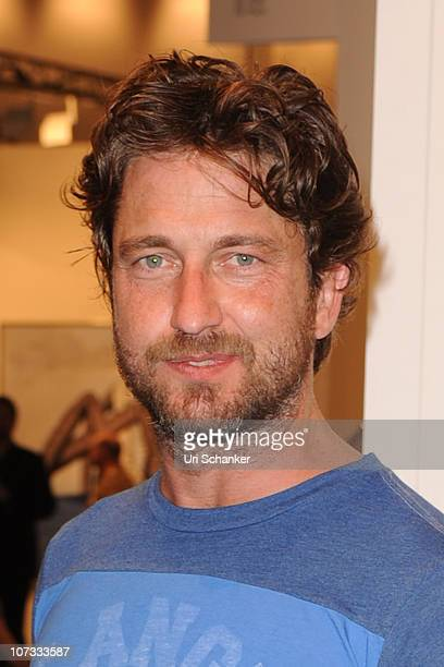 Gerard Butler is sighted during Art Basel Miami Beach at the Miami Beach Convention Center on December 4 2010 in Miami Beach Florida